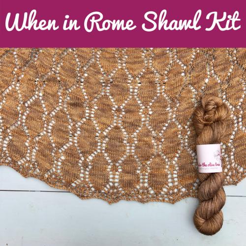 Shawl knitting kit