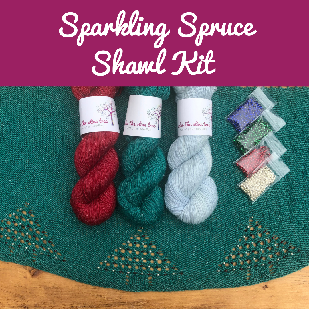 Sparkling Spruce Shawl Kit - Choose from 3 Colours