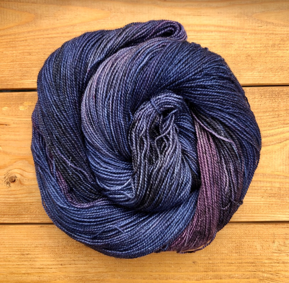 Sparkle Sock / 4ply - Roses at Midnight