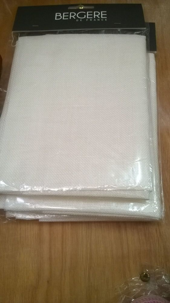 Linen Swatch 8 thread count Ecru £5.99