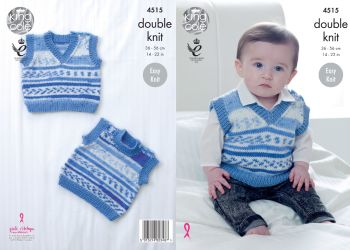 King Cole selection of baby DK patterns