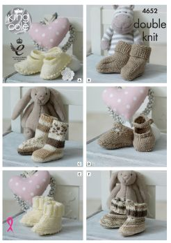 King Cole Baby Pattern Double Knitting for Feet