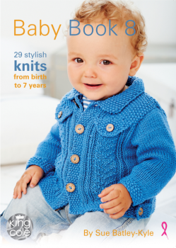 King Cole Baby Book 8 Hand Knitting Patterns