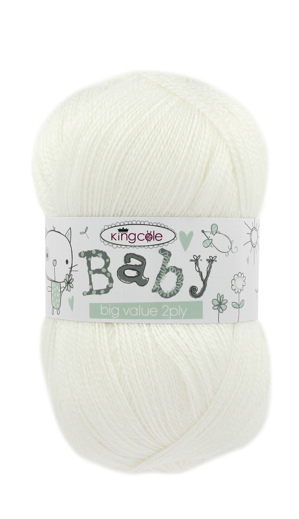 King Cole Big Value Baby 2ply 4315 White