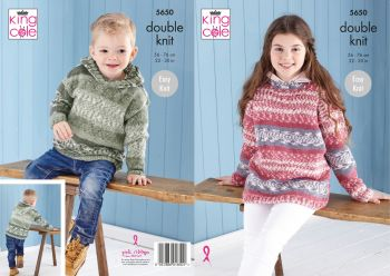 King Cole Fjord Double Knitting Instant Fair Isle Patterns