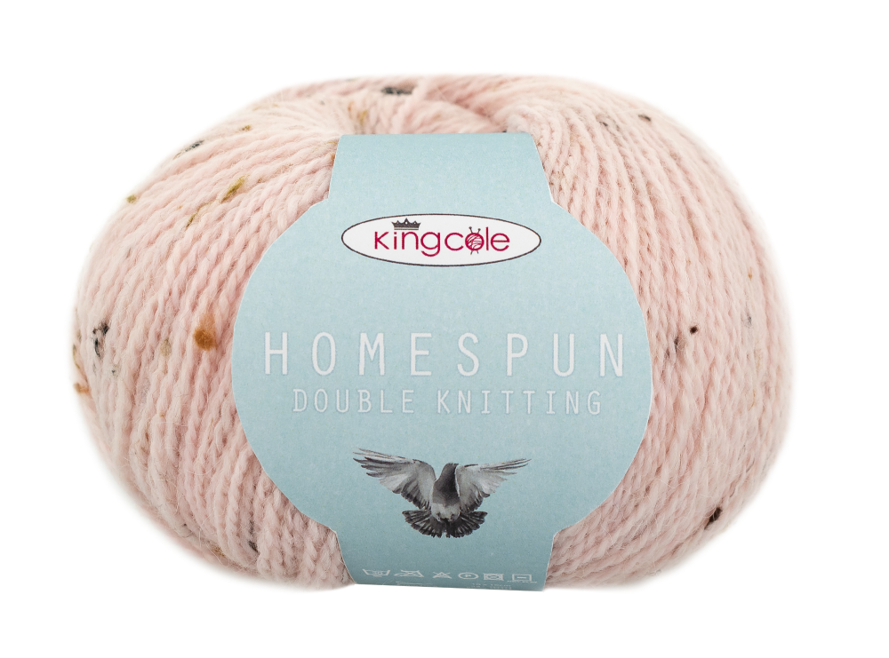 New Yarn by King Cole Homespun Double Knitting Mother of Pearl 5101