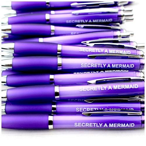 Secretly A Mermaid Purple Pen Stationery