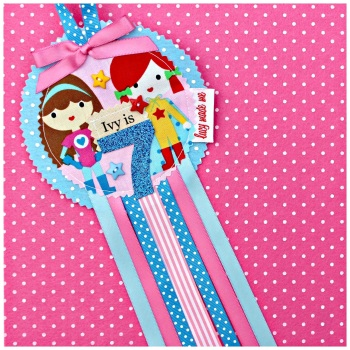 Superhero Girls Rosette Badge