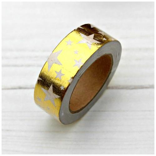 Gold Foil Star Washi Tape