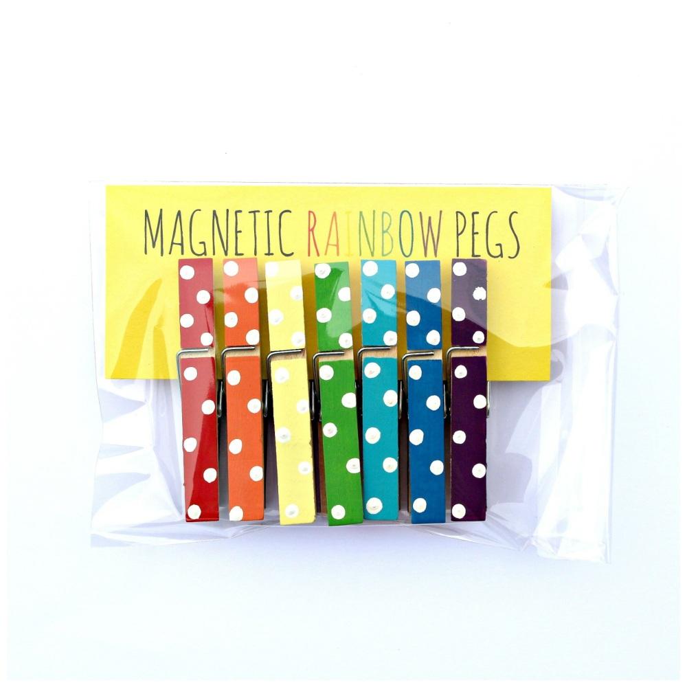 Magnetic Rainbow Pegs