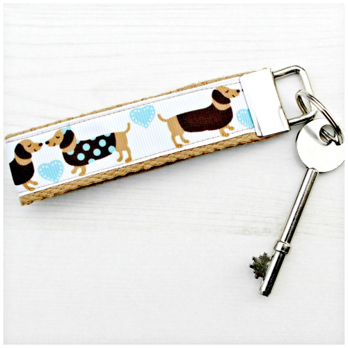 Sausage Dog Key Fob