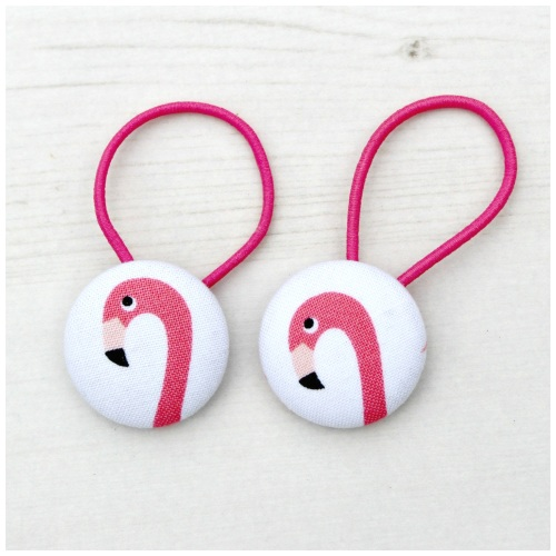 Pair Of Flamingo Hair Ties