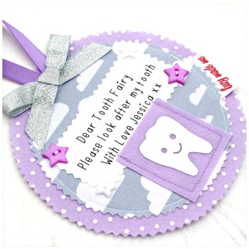Personalised Tooth Fairy Pocket Hanger