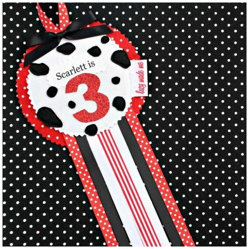 Dalmatian Dog Rosette Badge