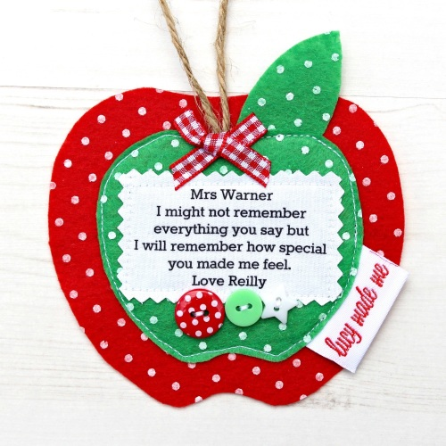 Personalised Teacher Apple Gift