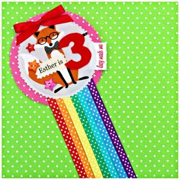 Fox Rosette Badge