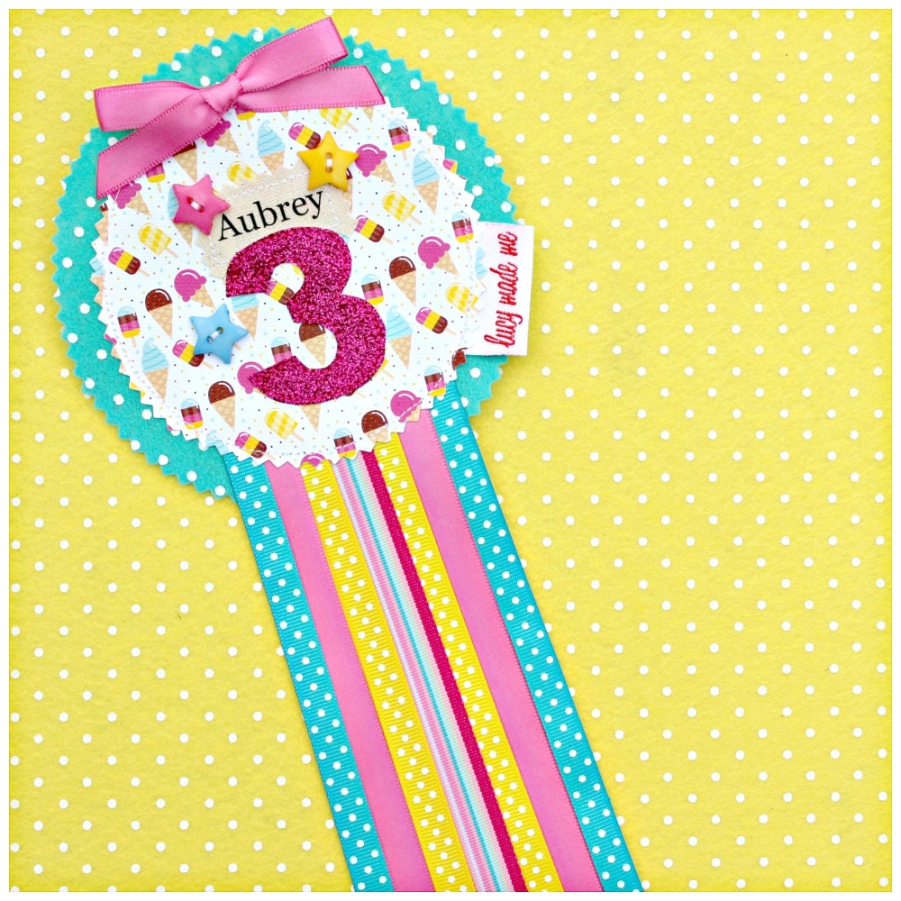 Ice-Cream Lolly Rosette Badge
