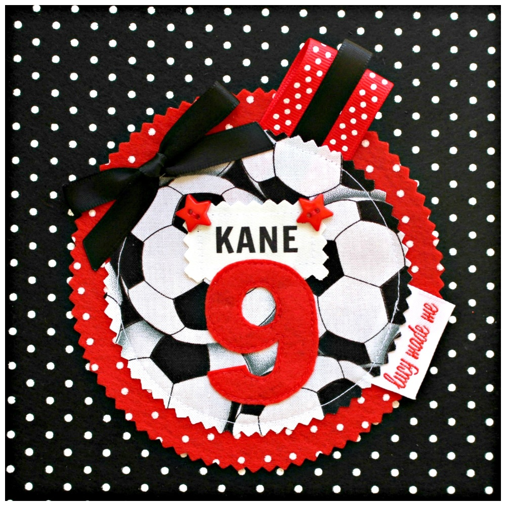 Football Rosette Badge - 15% off until midnight tonight (discount already a