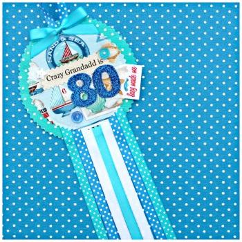 Beach Seaside Rosette Badge