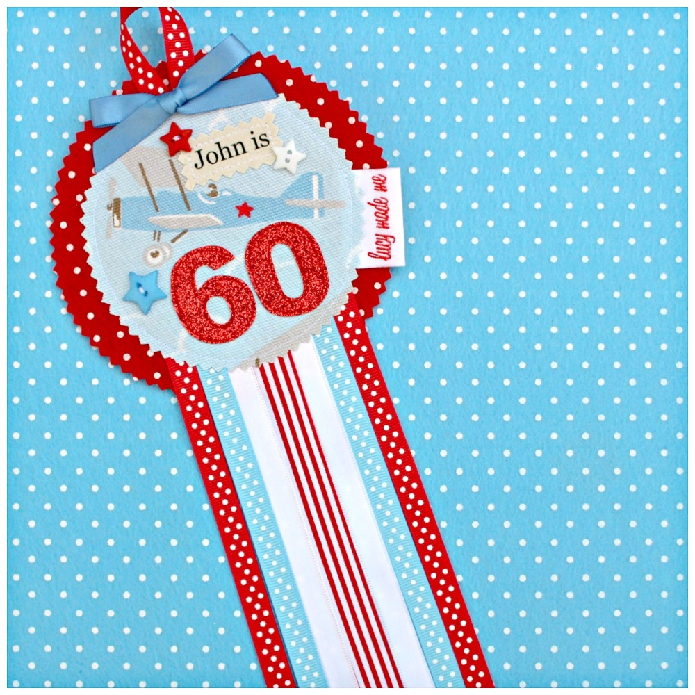 Aeroplane Rosette Badge