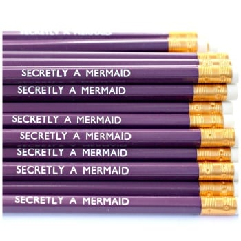 Secretly A Mermaid Violet Pencil