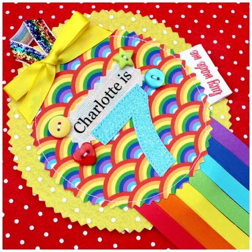 Rainbow Bright Rosette Badge