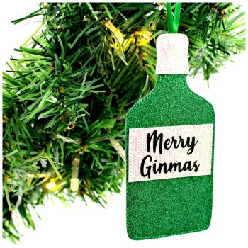 Merry Ginmas Gin Bottle Decoration