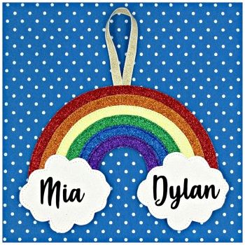 Glitter Rainbow Decoration