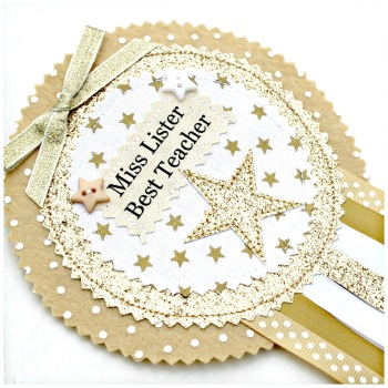 Glitter Gold Star Badge £8.00-£12.00