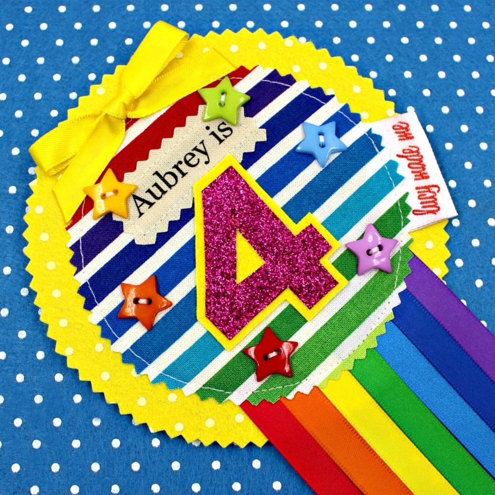 Rainbow Stripe Badge £8.00-£12.00