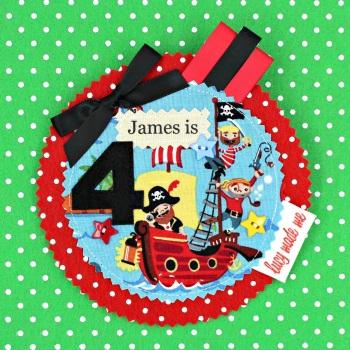 Pirate Ship Badge £8.00-£12.00