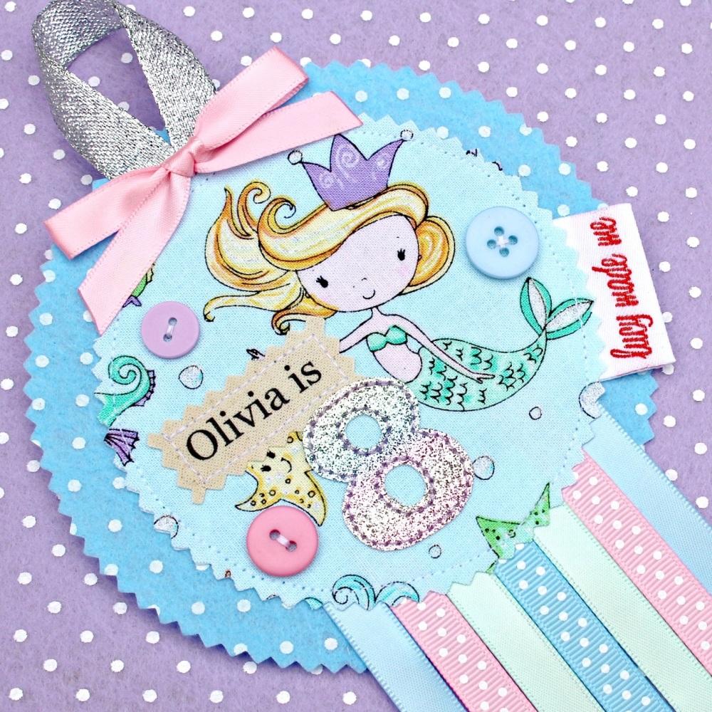 Mermaid Girl Badge £8.00-£12.00