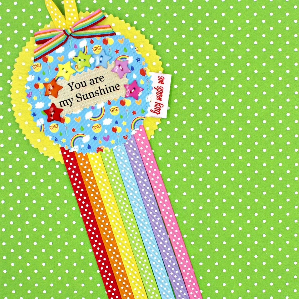 Rainbow Sunshine Badge £8.00-£12.00