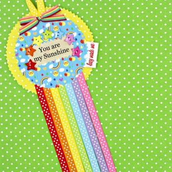 Rainbow Sunshine Badge £8.00-£12.00