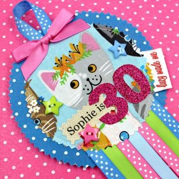 Cat Face Badge £8.00-£12.00