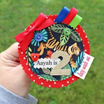 Jungle Lion Tiger Badge