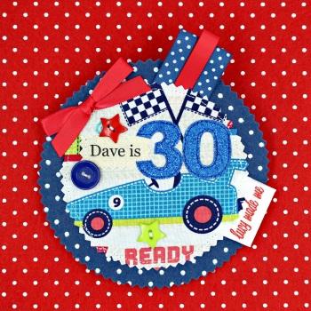 Car Racing Badge £8.00-£12.00
