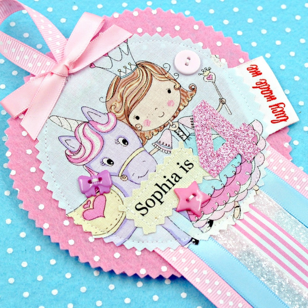 Princess Unicorn Badge £8.00-£12.00