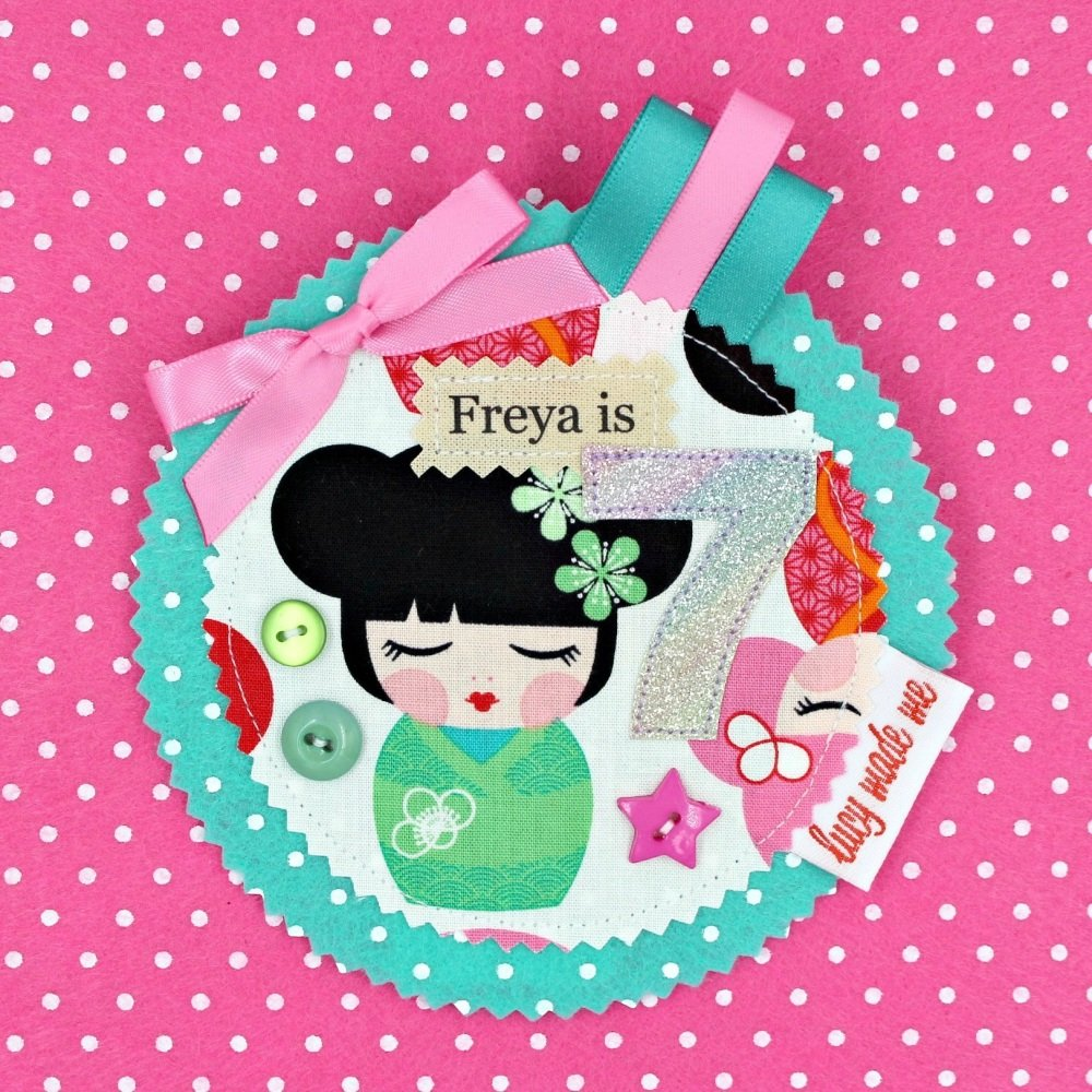 Japanese Doll Badge £8.00-£12.00