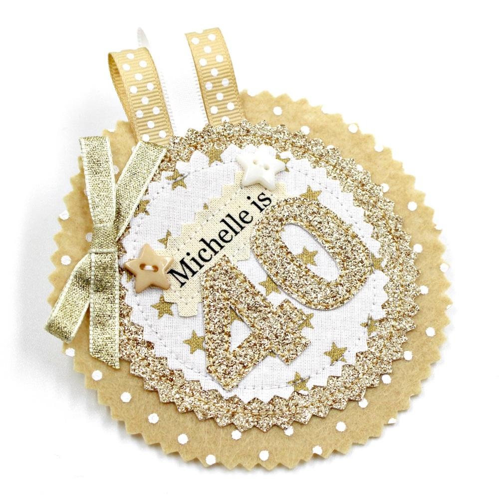 Glitter Gold Star Badge £8.00-£12.00