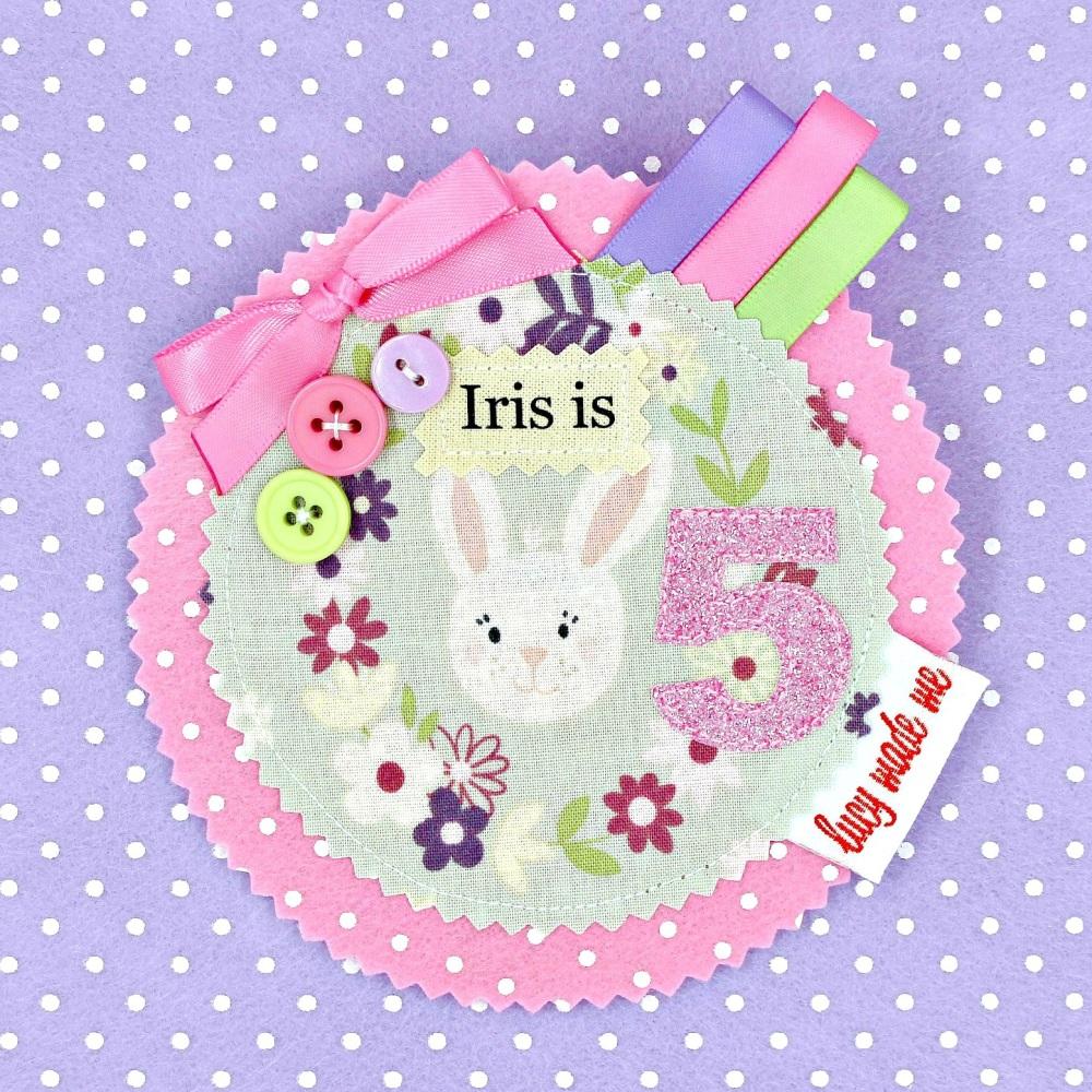 Bunny Animals Badge £8.00-£12.00