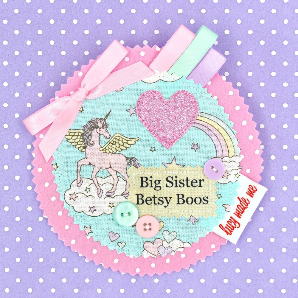 Unicorn Pastel Badge £8.00-£12.00