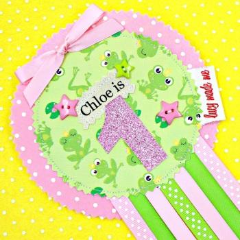 Girlie Frog Princess Animals Badge £8.00-£12.00