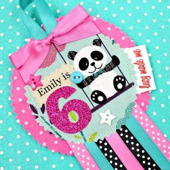 Cute Panda Bear Badge