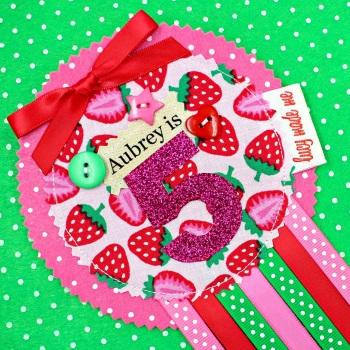 Cute Strawberry Badge