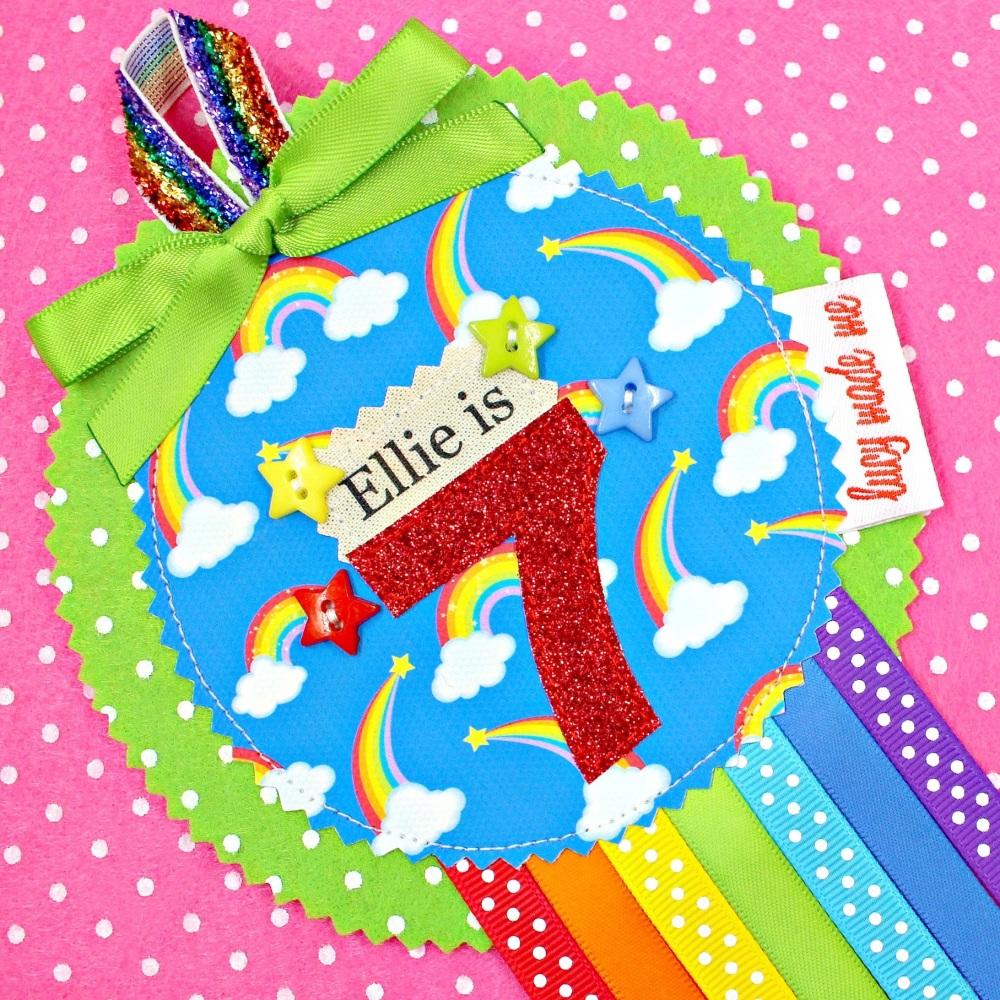 Rainbow Burst Badge £8.00-£12.00