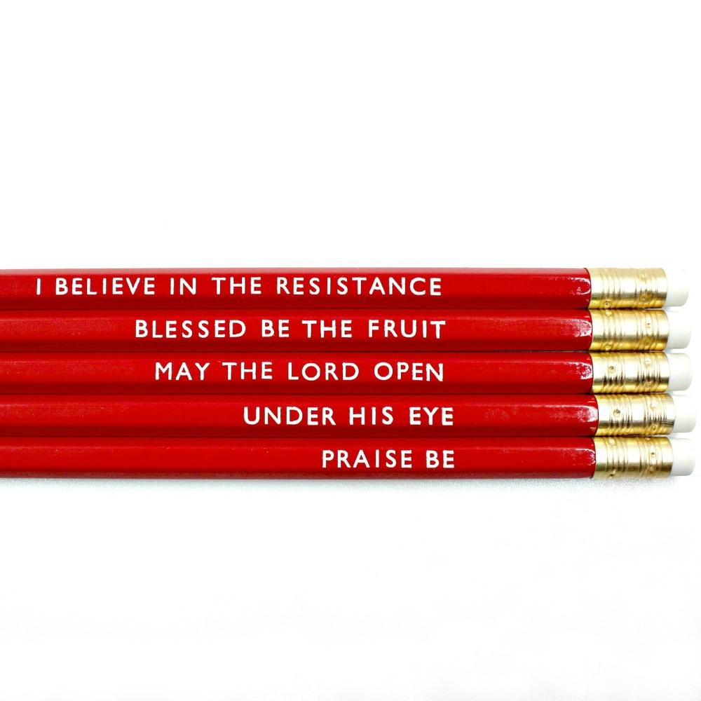 Handmaid's Tale Inspired Pencil Set