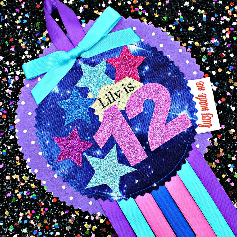 Space Girly Galaxy Badge £10.00-£12.00