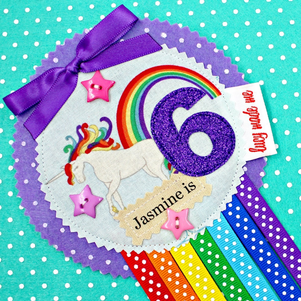 Unicorn Rainbow Badge £8.00-£12.00