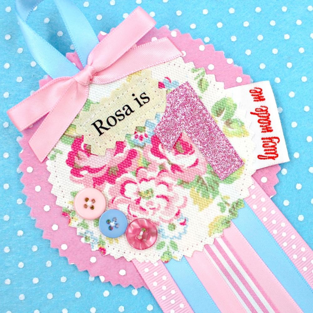 Floral Rose Badge
